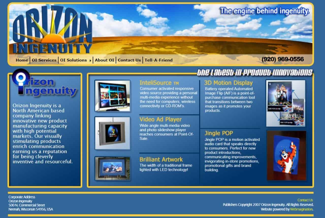 Orizon Ingenuity Website