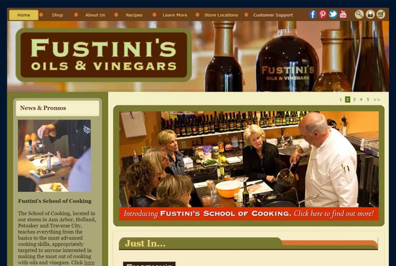 Fustini's Oils & Vinegars Website