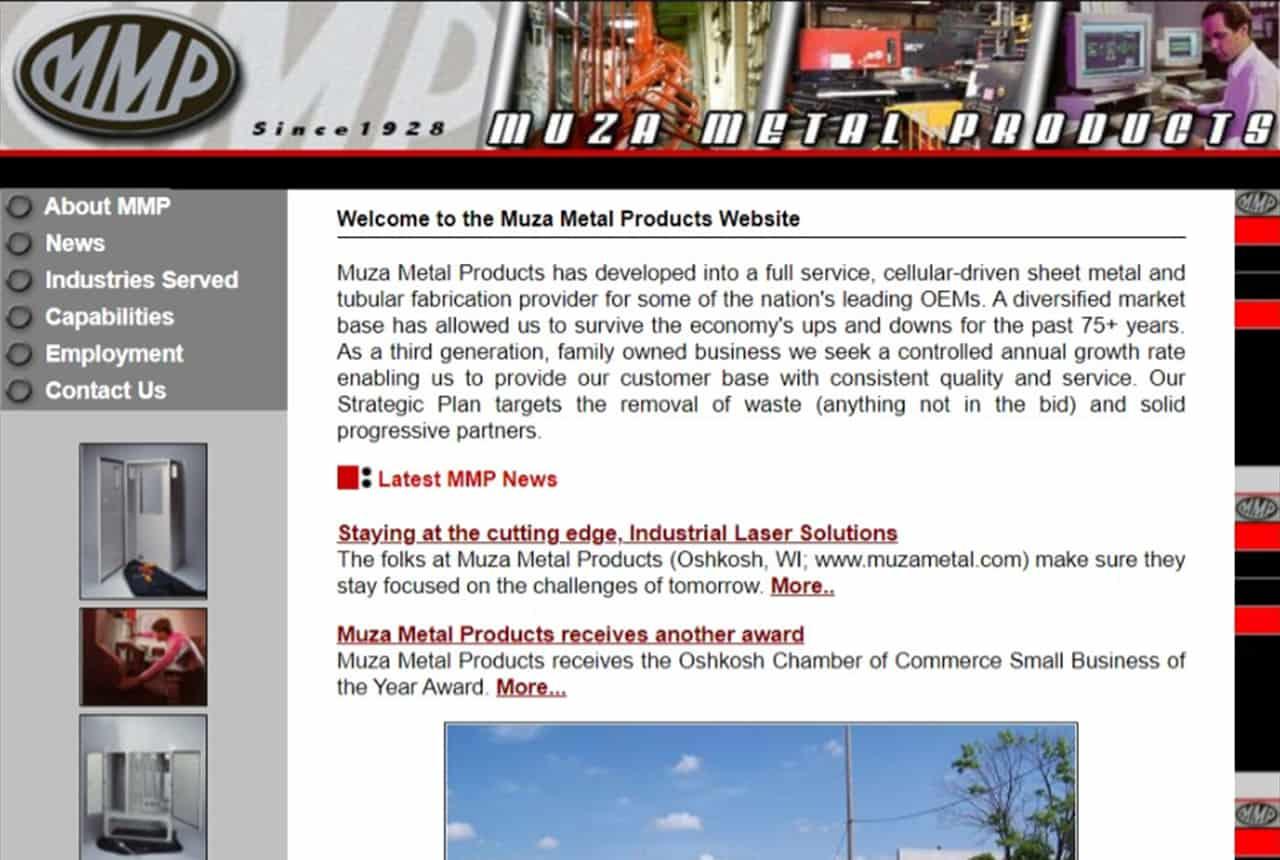 Muza Metal Products Website
