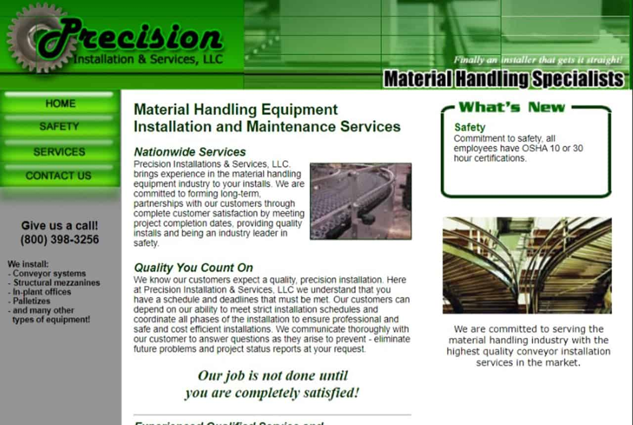 Precision Installation Website