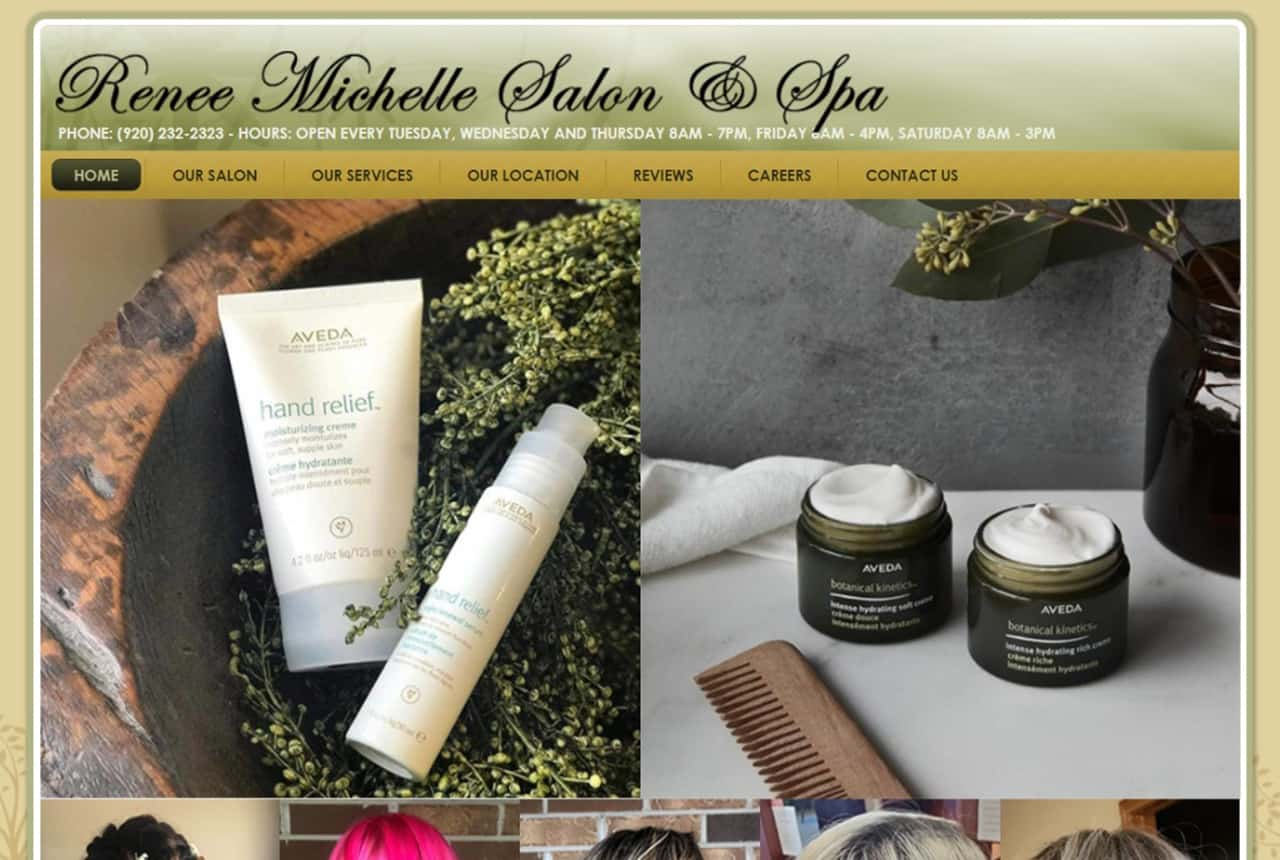 Renee Michelle Salon & Spa Website