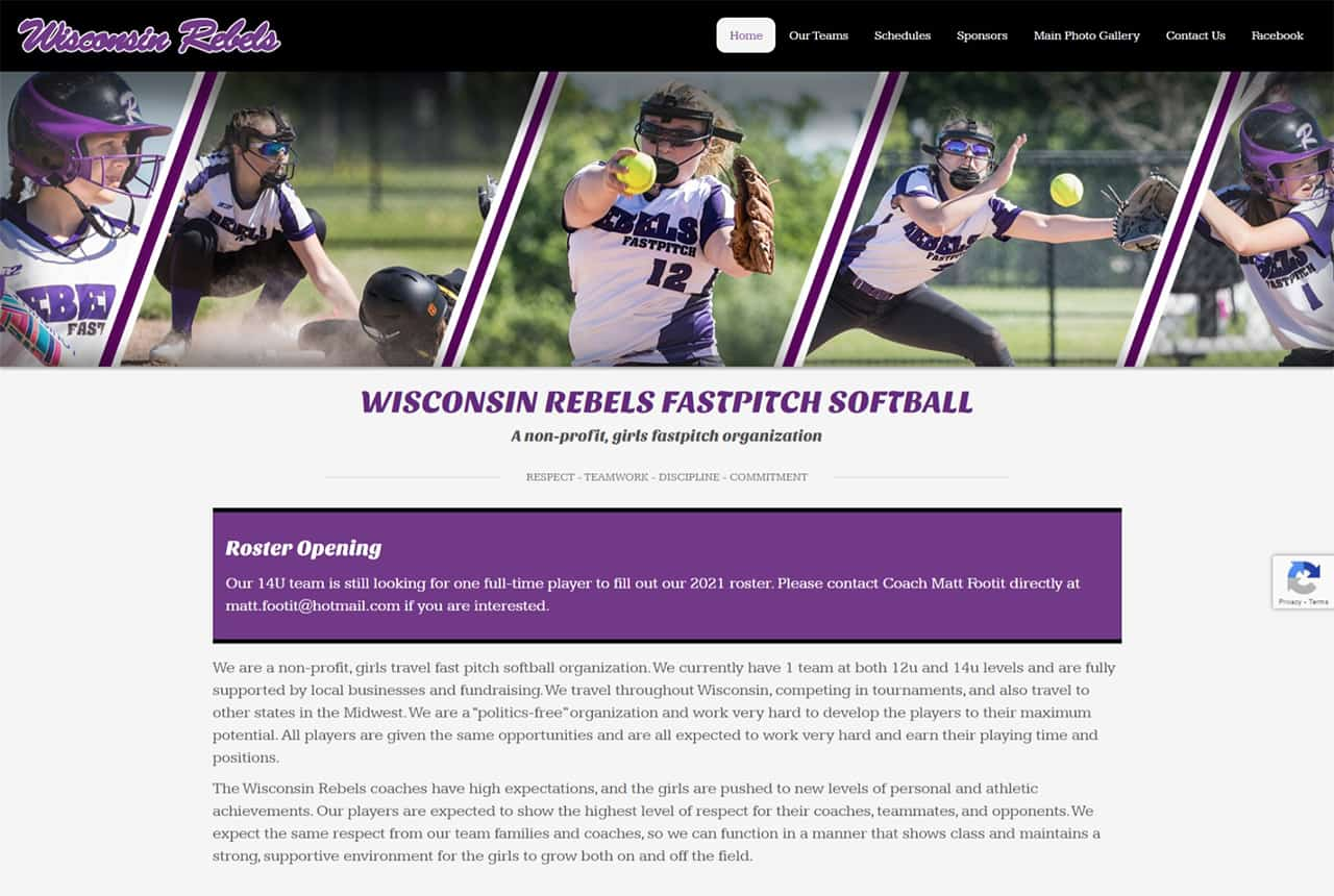 Wisconsin Rebels Website