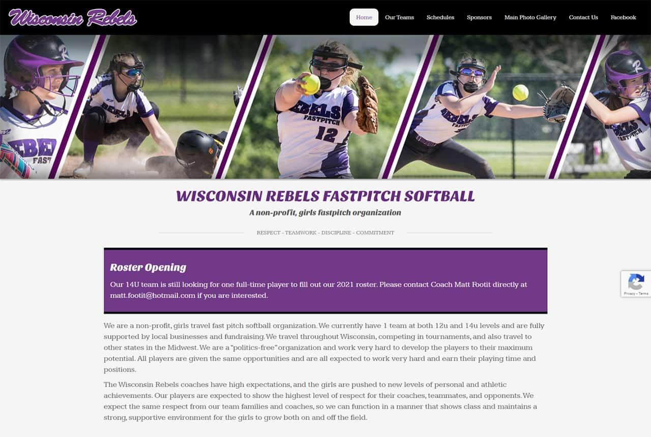 Wisconsin Rebels Website